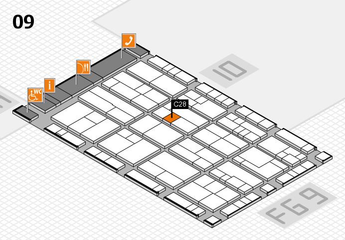 K 2016 hall map (Hall 9): stand C28