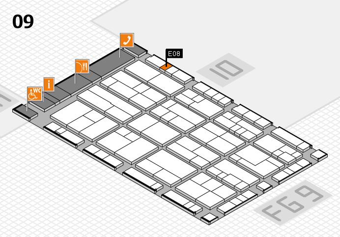 K 2016 hall map (Hall 9): stand E08