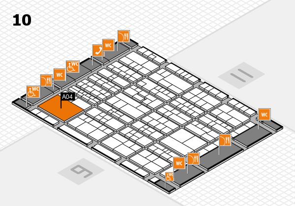 K 2016 hall map (Hall 10): stand A04