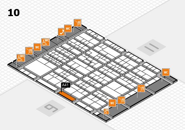 K 2016 hall map (Hall 10): stand A41