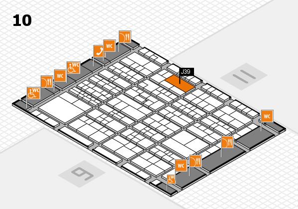 K 2016 hall map (Hall 10): stand J39