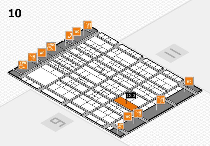 K 2016 hall map (Hall 10): stand C60