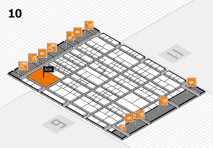 K 2016 Hallenplan (Halle 10): Stand A04
