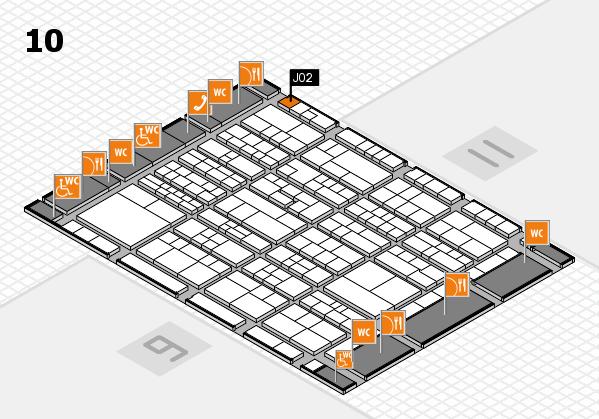 K 2016 hall map (Hall 10): stand J02