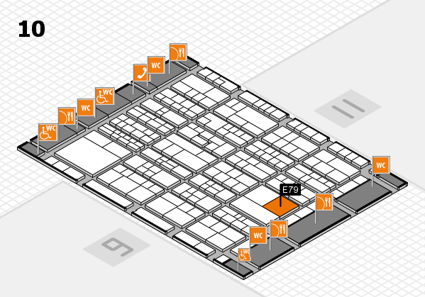 K 2016 hall map (Hall 10): stand E79