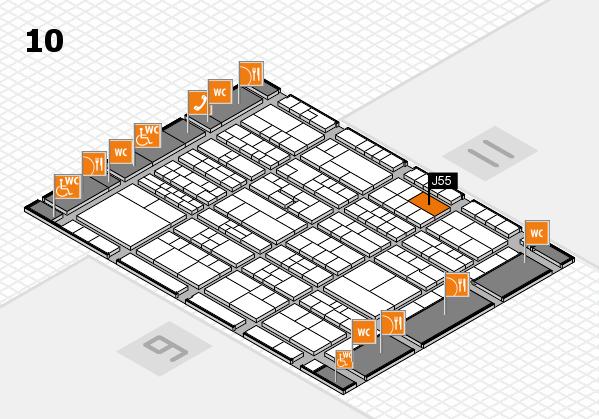 K 2016 hall map (Hall 10): stand J55