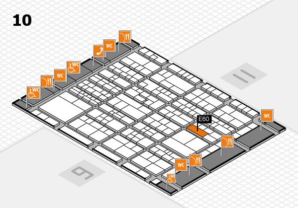 K 2016 hall map (Hall 10): stand E60