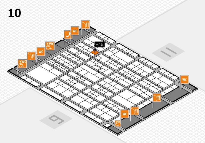 K 2016 hall map (Hall 10): stand H15