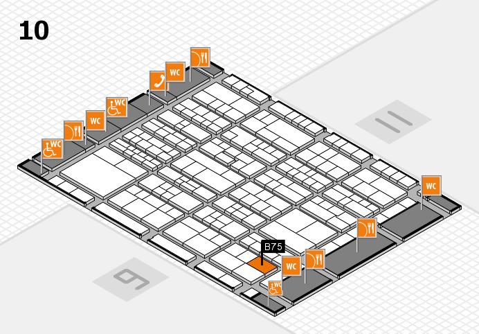 K 2016 hall map (Hall 10): stand B75