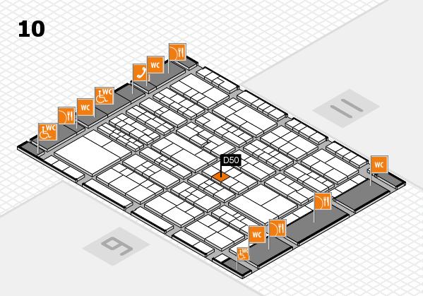 K 2016 Hallenplan (Halle 10): Stand D50