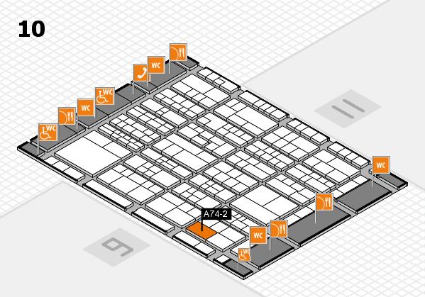 K 2016 Hallenplan (Halle 10): Stand A74-2