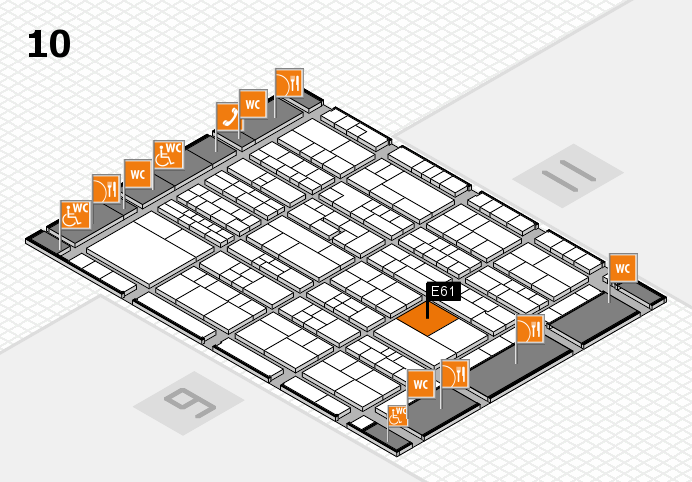 K 2016 Hallenplan (Halle 10): Stand E61