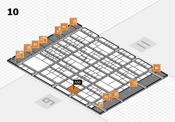K 2016 hall map (Hall 10): stand A56