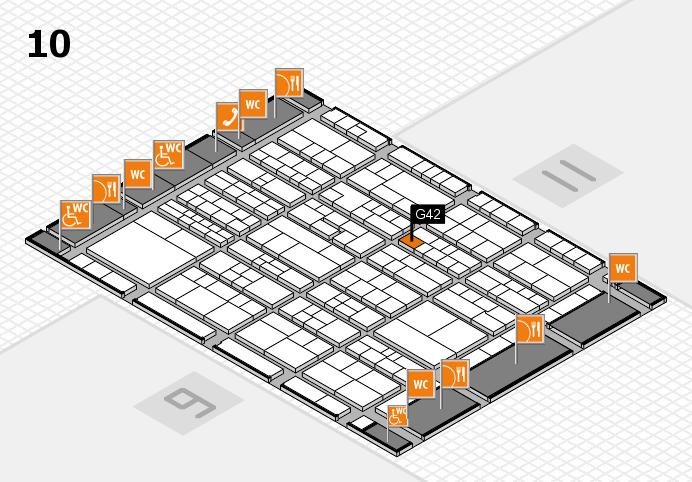 K 2016 Hallenplan (Halle 10): Stand G42