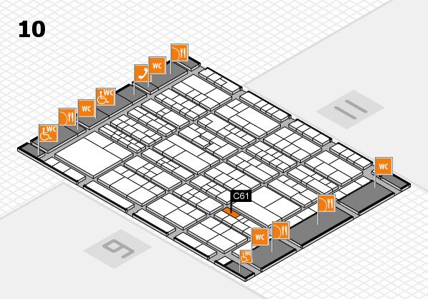 K 2016 hall map (Hall 10): stand C61