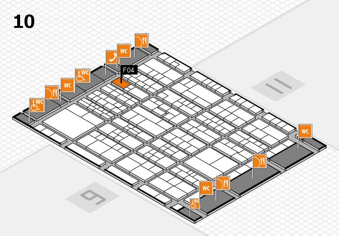 K 2016 hall map (Hall 10): stand F04