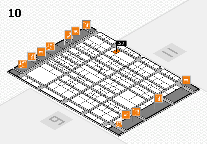 K 2016 hall map (Hall 10): stand J23