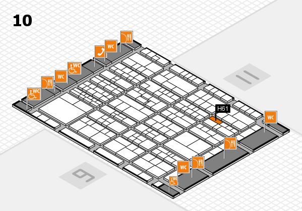 K 2016 Hallenplan (Halle 10): Stand H61
