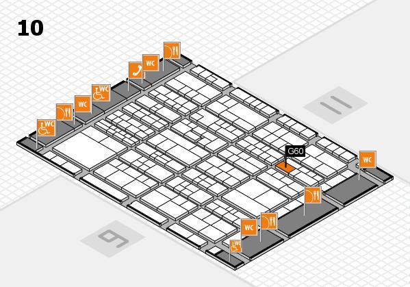 K 2016 hall map (Hall 10): stand G60