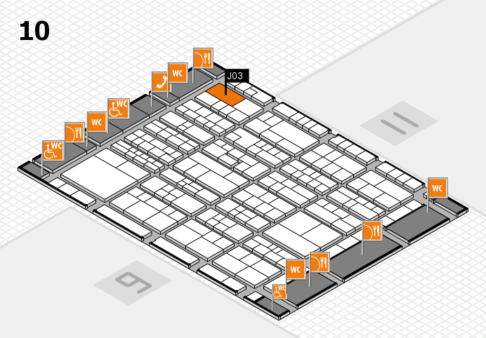 K 2016 hall map (Hall 10): stand J03