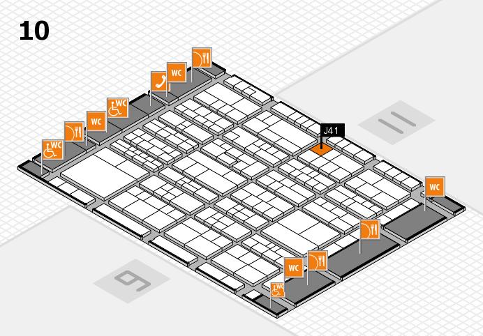 K 2016 hall map (Hall 10): stand J41