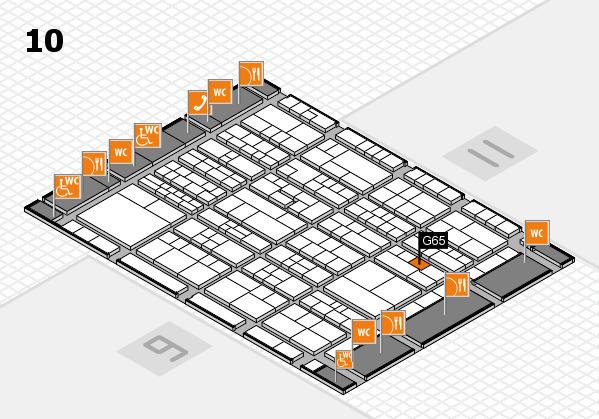 K 2016 hall map (Hall 10): stand G65