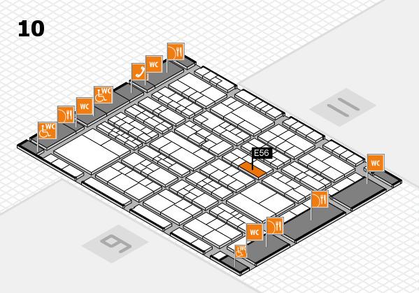 K 2016 Hallenplan (Halle 10): Stand E56