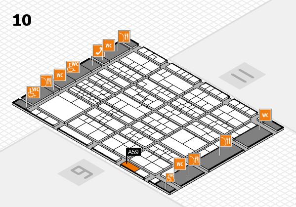 K 2016 hall map (Hall 10): stand A59