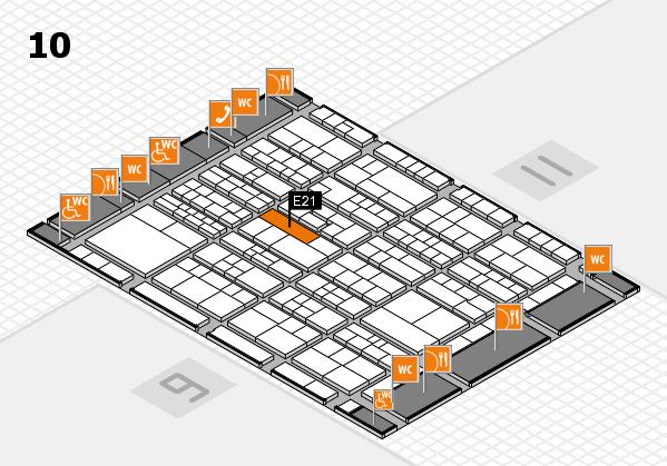 K 2016 hall map (Hall 10): stand E21