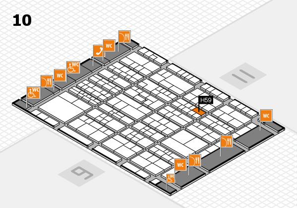 K 2016 hall map (Hall 10): stand H59