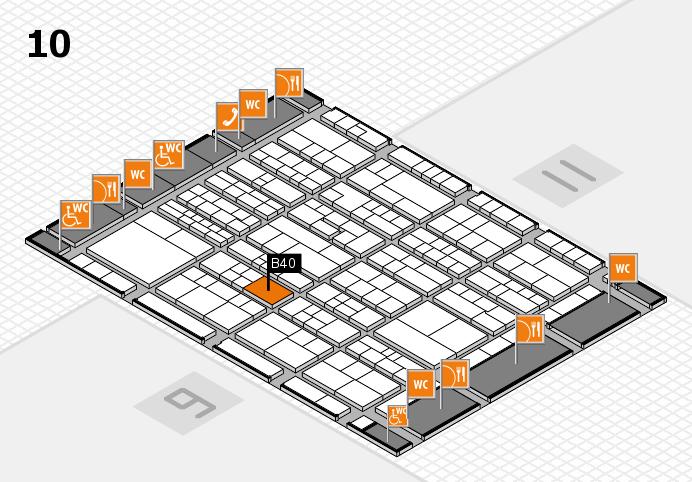 K 2016 hall map (Hall 10): stand B40