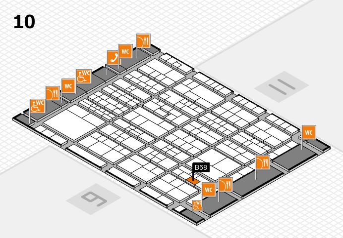K 2016 hall map (Hall 10): stand B68
