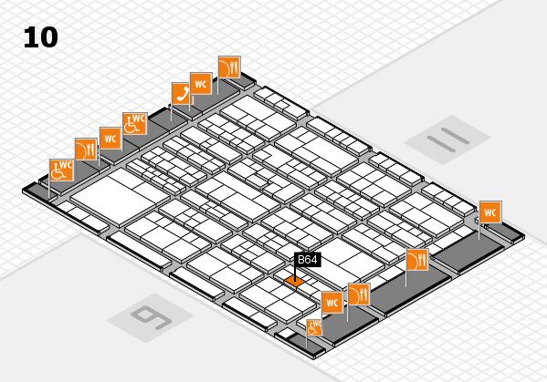 K 2016 hall map (Hall 10): stand B64
