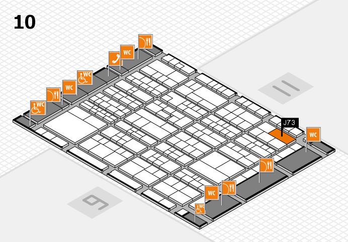 K 2016 hall map (Hall 10): stand J73