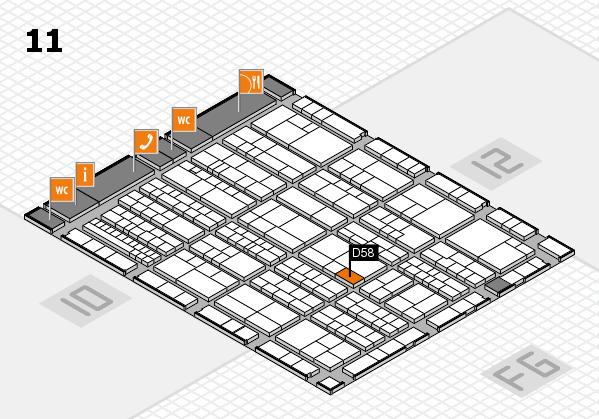 K 2016 hall map (Hall 11): stand D58