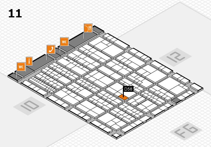 K 2016 Hallenplan (Halle 11): Stand D58
