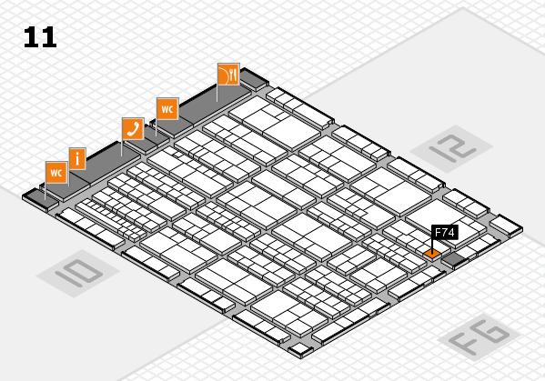 K 2016 Hallenplan (Halle 11): Stand F74