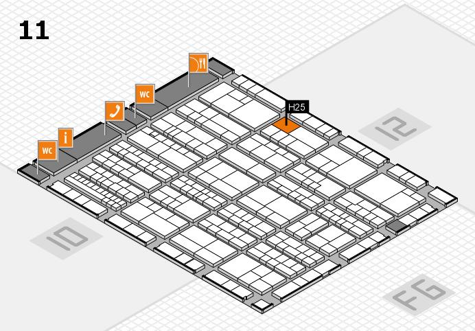 K 2016 hall map (Hall 11): stand H25