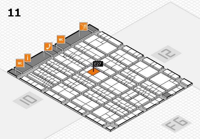 K 2016 hall map (Hall 11): stand E27