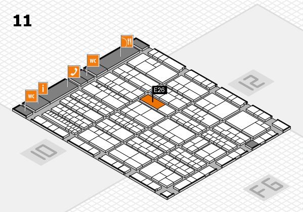K 2016 Hallenplan (Halle 11): Stand E26