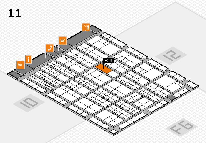 K 2016 hall map (Hall 11): stand E26