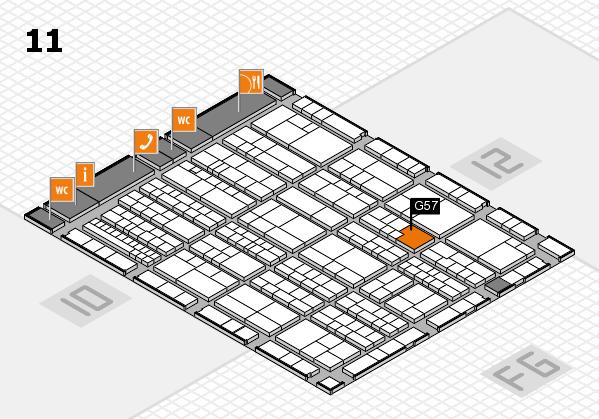 K 2016 hall map (Hall 11): stand G57