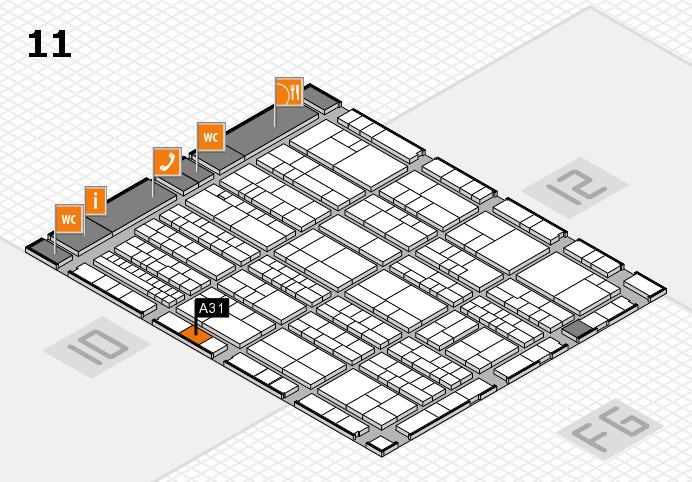 K 2016 hall map (Hall 11): stand A31
