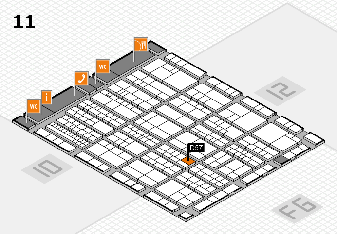 K 2016 Hallenplan (Halle 11): Stand D57