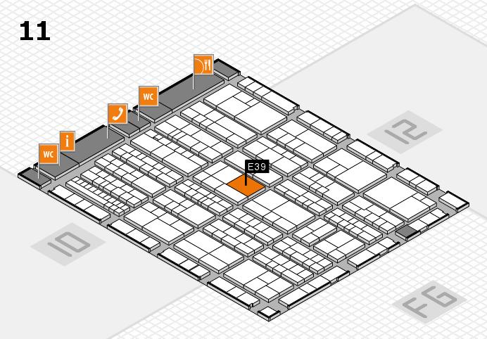 K 2016 hall map (Hall 11): stand E39