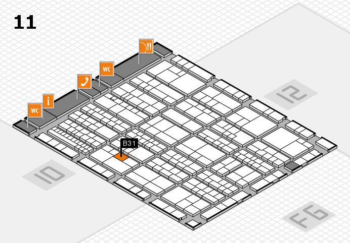K 2016 hall map (Hall 11): stand B31