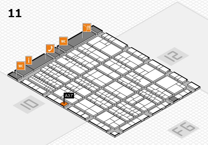 K 2016 hall map (Hall 11): stand A37