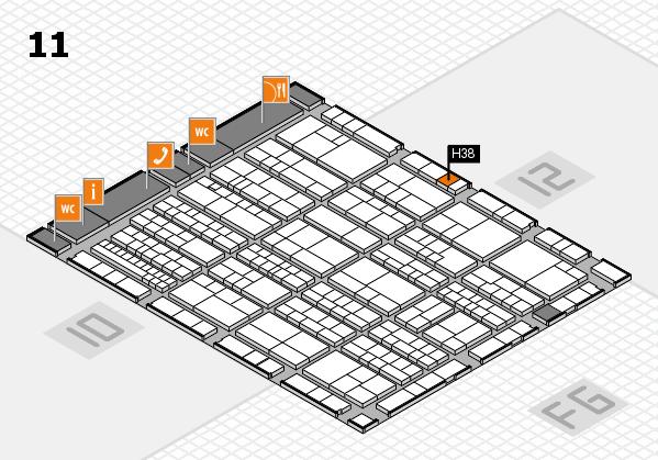 K 2016 hall map (Hall 11): stand H38