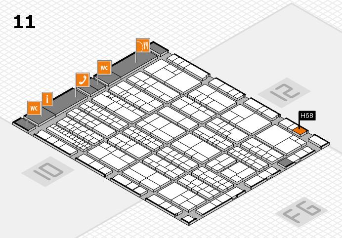 K 2016 hall map (Hall 11): stand H68