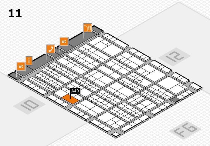 K 2016 Hallenplan (Halle 11): Stand A40